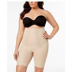 NWT! $50 Miraclesuit Hi-Waist Long Leg Nude 3XL